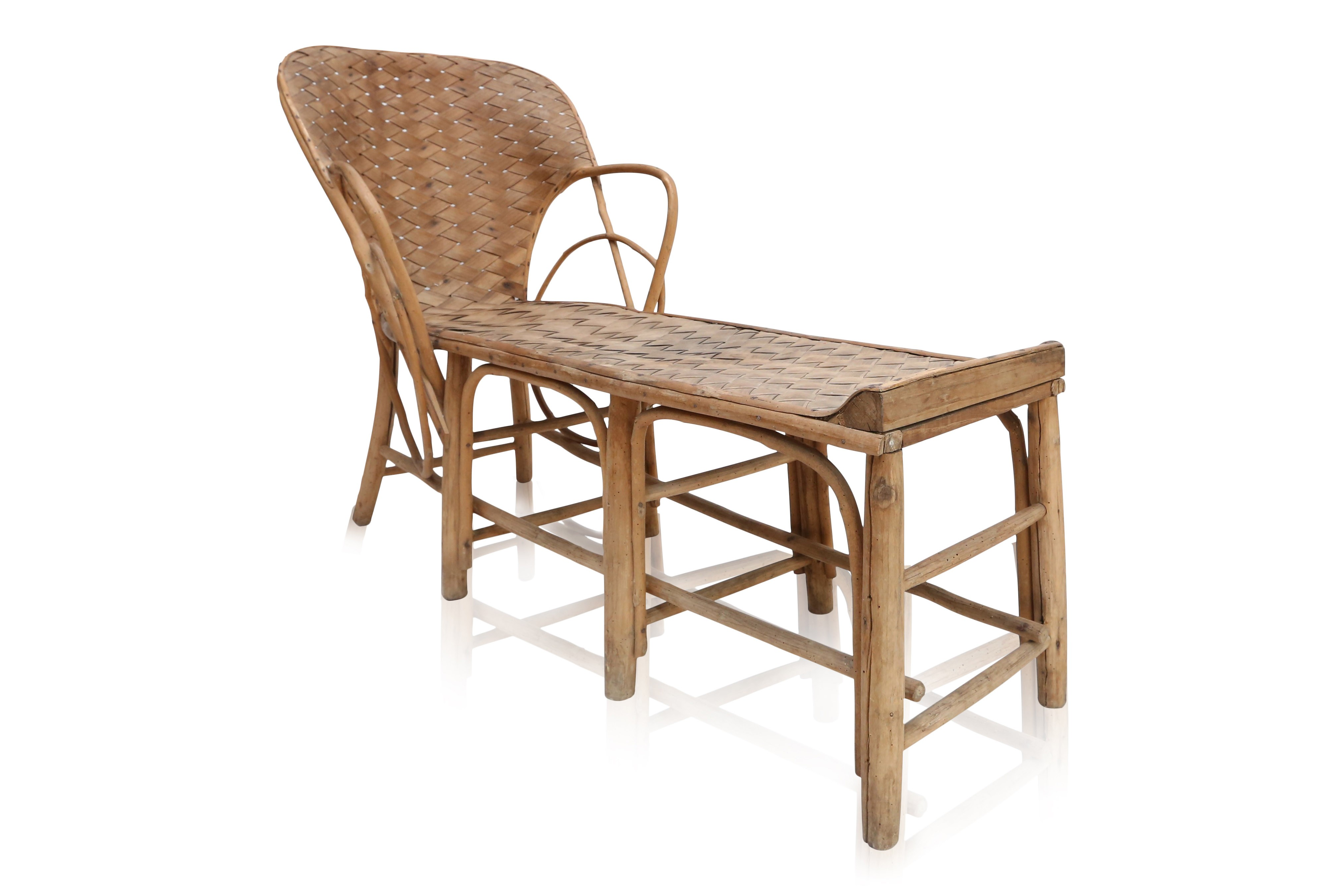 French Lounge Chair In Rattan   1960s. Previous Next