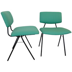 Set of 4 compass chairs, Pierre GUARICHE - 1950s