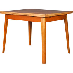 Dining table in teak with 2 extensions - 1960s