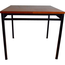 Vintage square dining table, Marcel GASCOIN - 1950s