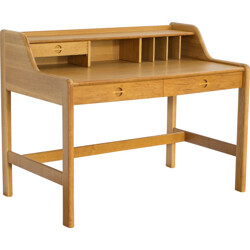 Danish desk in oak with organiser - 1960s
