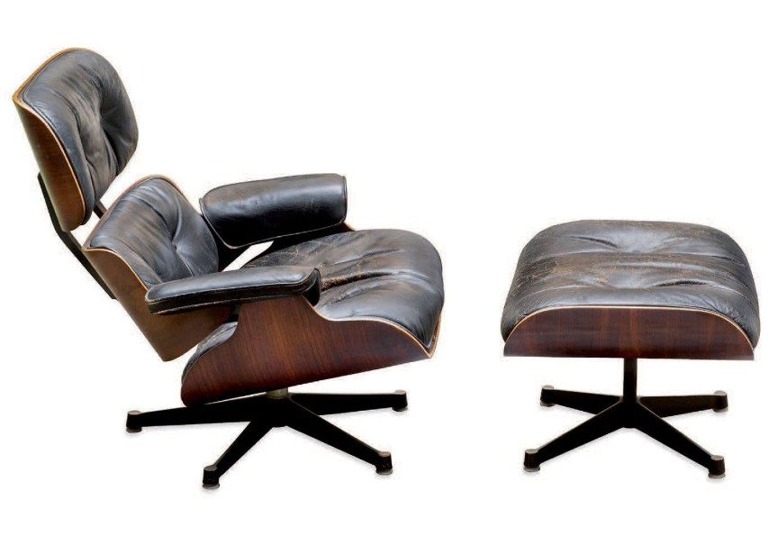lounge chair and its ottoman charles et ray eames. Black Bedroom Furniture Sets. Home Design Ideas
