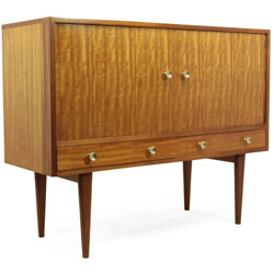 Small mid-century sideboard in mahogany and Indian ficus, Gordon RUSSELL - 1950s