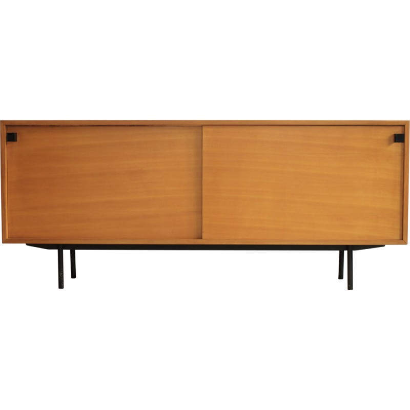 French meubles tv sideboard in elm alain richard 1950s