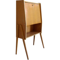 Secretaire in beech and oak wood - 1960s