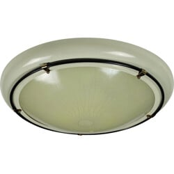 Beige lacquered metal ceiling lamp  - 1950s