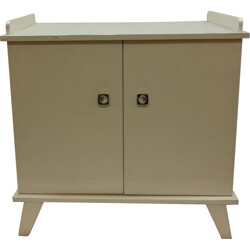 Dutch baby dresser in white and grey lacquered wood - 1960s