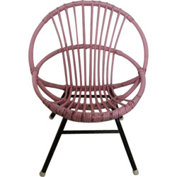 Small Rohé Noordwolde rattan chair - 1960s