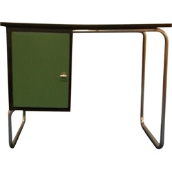 Belgian Torck desk in green formica and chromed steel - 1950s