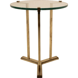 Side table in brass and glass, Peter GHYCZY - 1970s