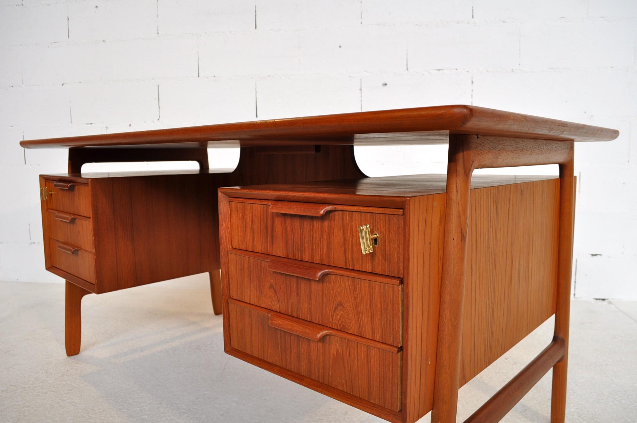 partners desk sided antique c desks pedestal twin large double