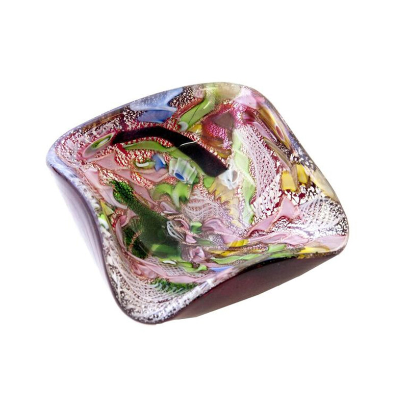 Aureliano Toso Italian ashtray in glass, Dino MARTENS - 1950s