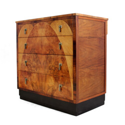 Vintage chest of drawers in walnut - 1930s