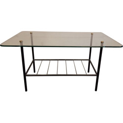 Coffee table in metal and glass - 1950s