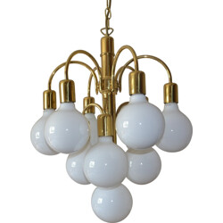 German mid-century chandelier in brass - 1960s
