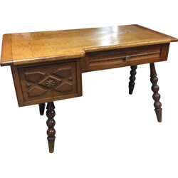 French desk in oak - 1960s