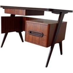Small Italian mid-century desk in rosewood - 1950s