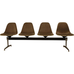 Herman Miller seating bench 4 side chairs, Charles EAMES - 1960s