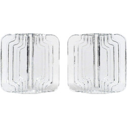 Pair of German glass objects - 1960s
