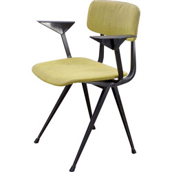 "Ahrend ""Revolt"" chair in steel and green fabric, Friso KRAMER - 1950s"