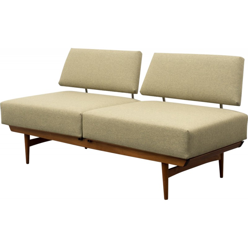 Mid Century Re Upholstered Convertible Sofa, Wilhelm KNOLL   1960s