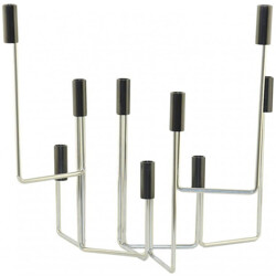 Mid-century Scandinavian candleholder in chromed metal - 1960s