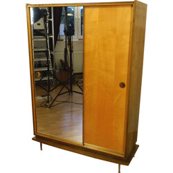 Highboard with mirror and sliding doors - 1950s