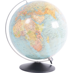 Illuminated Colombe glass earth globe - 1950s