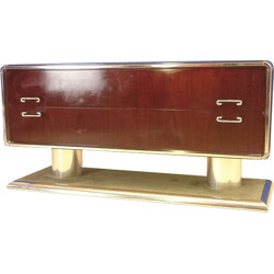 Vintage chest of drawers in rosewood and metal - 1970s