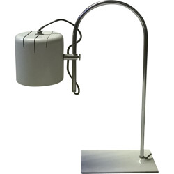 Italian table lamp in white lacquered iron - 1970s