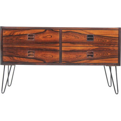 Upcycled rosewood sideboard with hairpin legs - 1960s