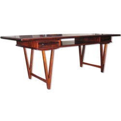 Rosewood coffee table,  E.W. BACH - 1960s