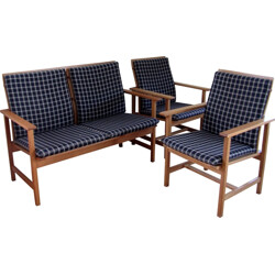 Lounge sofa and two armchairs set, Borge MOGENSEN - 1960s
