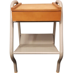 Mid century bedside table, Jacques HITIER - 1950s