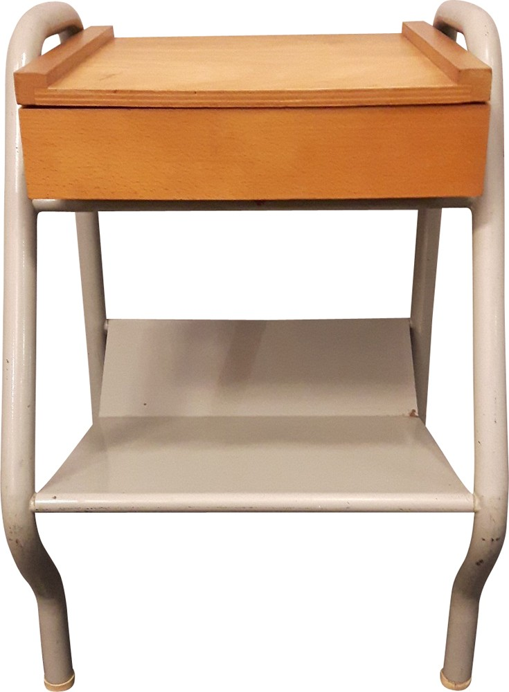 Mid Century Bedside Table Jacques Hitier 1950s Design Market