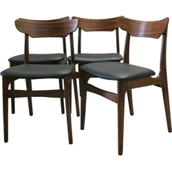 Set of 4 Danish  Schionning & Elgaard chairs in rosewood - 1960s