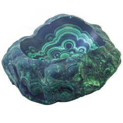 Large malachite specimen bowl - 1950s