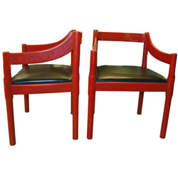 Pair of vintage chairs, Vico MAGISTRETTI - 1960s