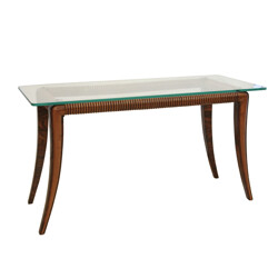 Mid century Italian walnut coffee table, Paolo BUFFA - 1950s