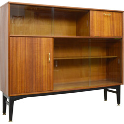 Mid-century Nathan teak and glass bookcase - 1960s