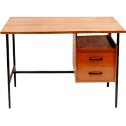 Little desk in wood and metal - 1950s