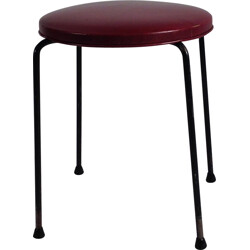 Thonet stool in metal and leatherette, Pierre PAULIN - 1950s