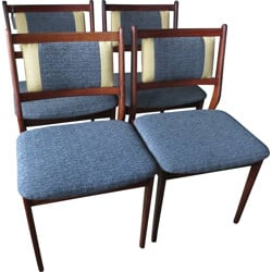 Set of 4 Danish dining chairs in massif rosewood - 1960s