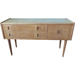 Small Danish console table in oak wood - 1960s
