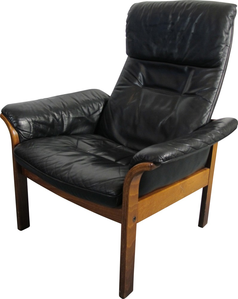 Scandinavian g mobel lounge chair in leather 1950s for Design mobel eames