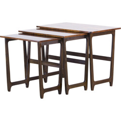 Set of 3 Nesting tables in rosewood - 1960s