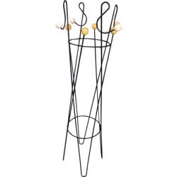Mid century coat rack in metal and wood, Roger FERAUD - 1950s