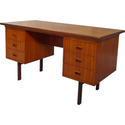 Mid century desk in teak with drawers - 1960s
