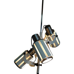 Vintage hanging lamp with 3 pivoting lights - 1970s