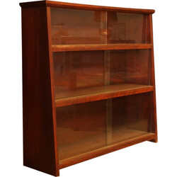 Bookcase in mahogany and glass - 1950s